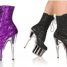 Adore - Women's Glitter Platform Lace Up Ankle Boots