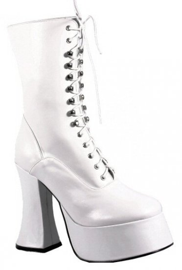 Demonia - Women's Calf High Platform Boot with Lace Up Front