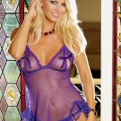 2 Piece Sheer Peek-A-Boo Babydoll Set