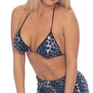 2 Piece Plush Leopard Print Bra and Short Sets