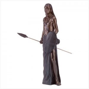 MASAI WARRIOR STATUE--Item #: 35160