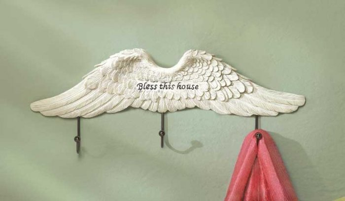 ANGEL WINGS WALL HOOK---Item #: 38288