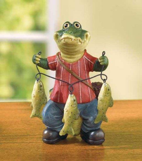 CROCODILE FISHERMAN FIGURE---Item #: 37999