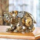 PATCHWORK ANIMAL-PRINT BEAR FI---Item #: 38333