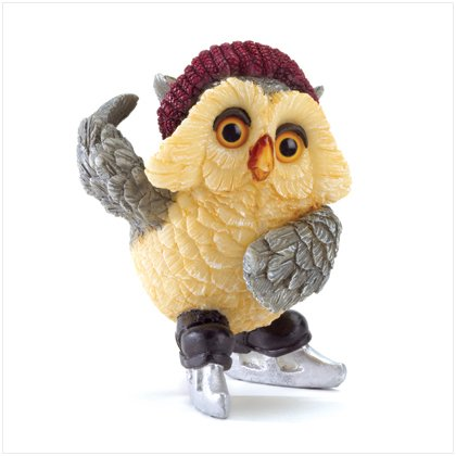 ICE SKATING OWL FIGURINE---Item #: 37013