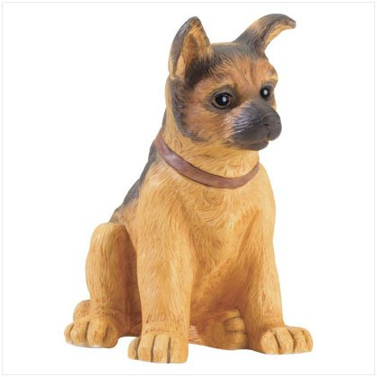 GERMAN SHEPHERD PUPPY FIGURINE---Item #: 37448
