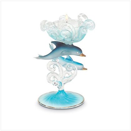 DOLPHIN CANDLEHOLDER---Item #: 35255