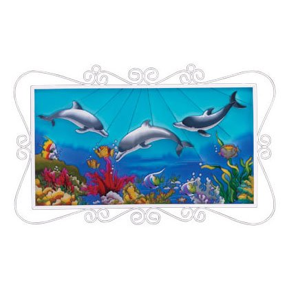 UNDERSEA DOLPHIN PAINTING---Item #: 35284
