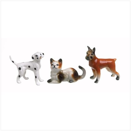 SET OF 3 PET FIGURINES---Item #: 37084