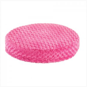 PINK PLUSH ROUND PET BED---Item #: 37530