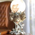 WOLF GLOBE LAMP---Item #: 37127