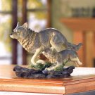 WOLF AND CUB FIGURE---Item #: 37936