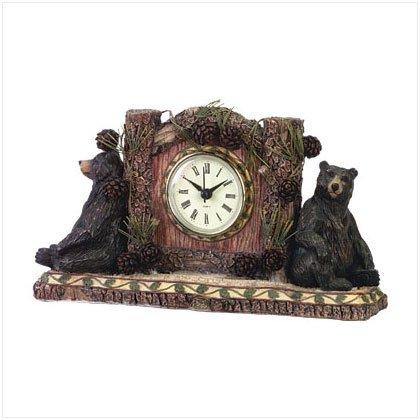 WOODSY BEAR DESK CLOCK---Item #: 34614