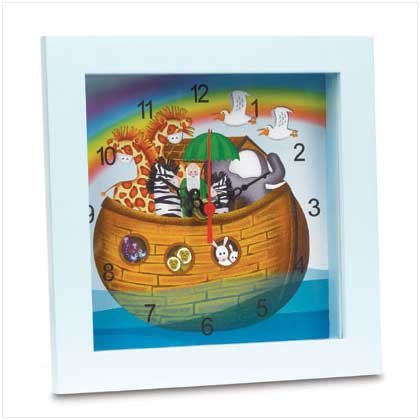 NOAH`S ARK CLOCK---Item #: 37861