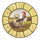 OVERSIZED ROOSTER CLOCK---Item #: 39152