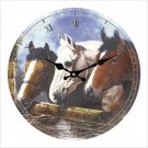 EQUESTRIAN WALL CLOCK-Horse---Item #: 39153
