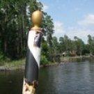 Gondola Striped Dock Pole