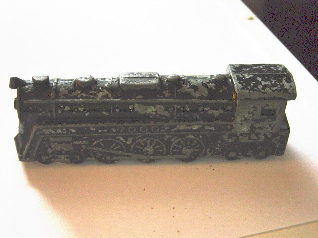 Vintage Metal Train Engine at Little Shoppe of Toys #600005