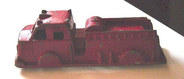 Old Vintage Toy Firetruck Tootsie Toy Midge  #600021