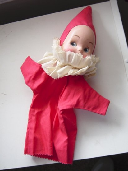 Vintage Cloth and Plastic Hand Puppet  #600053