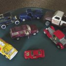 Set of Seven Vintage Vehicles Trucks Cars Maisto Hotwheels Tonka Ertl #600056