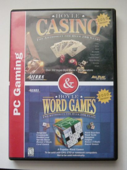 Computer Games 2 CDs Hoyle Casino and Word Games #600077