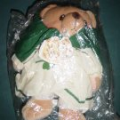 Cherished Teddie Irish Girl Green Cloak Dress with Clovers at Little Shoppe of Toys #600087