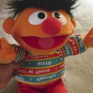 "Jim Hensons Sesame Street Tyco 16"" Bilingual Talking Ernie Doll English/Spanish #600185"