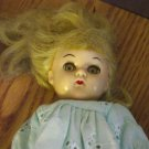 "Old Vintage Hard Plastic 8"" Blond Doll #600202"
