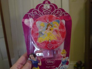 Disney Princess Rotary Shade Night Light NIP #600243