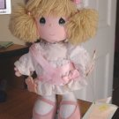 Precious Moments Doll 1989 Graduation Edition by Applause with Stand  #600251