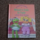 1992 Jim Henson's Muppets What's Fair is Fair Hard Cover Book #600256
