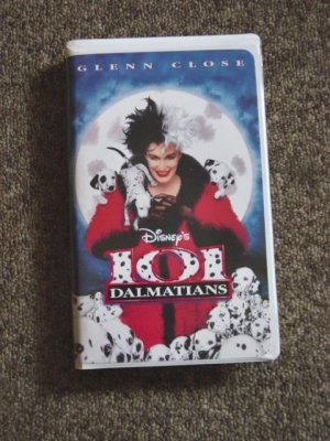 1997 Disney 101 Dalmatians 1997 Glenn Close VHS Video #600258