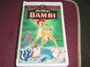 Walt Disney's Masterpiece Bambi  55th Anniversary Limited Edition VHS Video #600262
