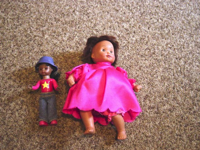 Two Small Black Dolls Cititoy and Alexander Doll Company #600316