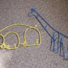 Set of Two Wire Animal Giraffe and Bear Wall Decor Hangers #600426