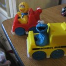 Tyco Playtime Sesame Street Big Bird and Cookie Monster Toy School Bus and Wrecker #600453