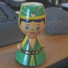 Russian Hand Carved and Painted Wood Doll Figurine #600498
