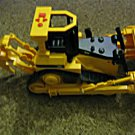 "13"" Toy State Industries Caterpillar Wheel Backhoe and Loader Toy Lights Turn Off and On #600524"