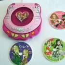 Rose and Pink Toy CD Player and Three CDs #600553