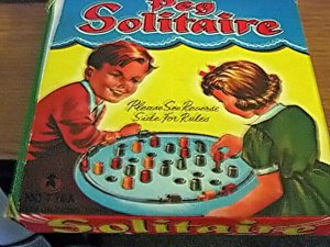 Vintage Peg Solitaire Game in Original Box #600563