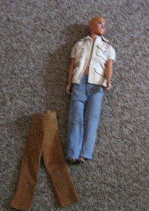 Barbie Doll Ken in Slacks and Short Sleeve Jacket, Extra Pair Brown Pants #600569