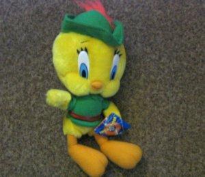 Looney Tunes Tweety Bird Robin Hood Stuffed Plush Doll #600579