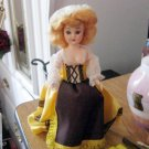 """Old Vintage Celluloid 7 1/2"""" Colonial Doll Original Clothes #600582"""