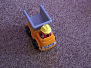1989 Vintage Shelcore Dump Truck with Driver #600622