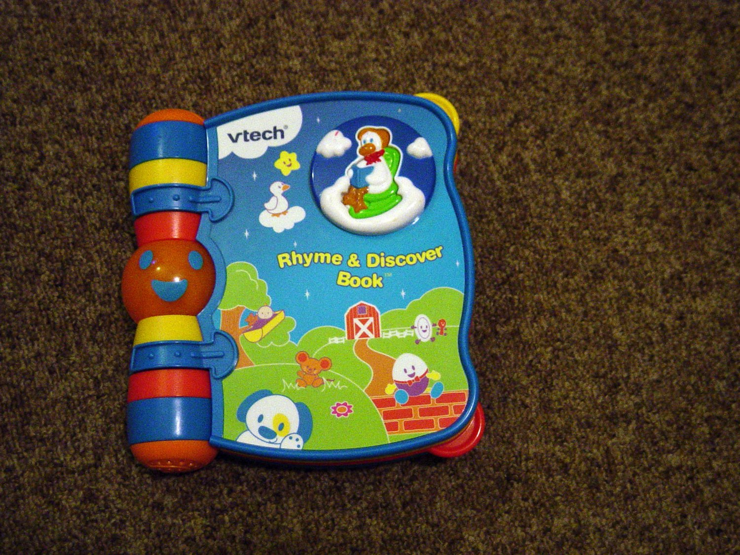 Vtech baby rhyme amp discover musical talking book 600399