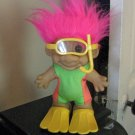 "Russ Pink Haired Scubba Diver Troll Doll 7 1/2"" Tall #600568"