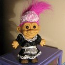 "4 1/2"" Russ Troll Doll Maid in Black #600518"