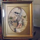 Old Wooden Holly Hobbie 3D Embossed Paper Picture Framed #600332