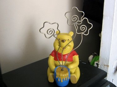 Adorable Disney Winnie the Pooh Photo Holder Hard Cast Resin #600658